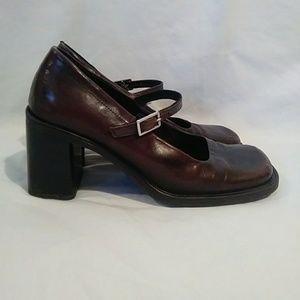 Aldo leather square toe mary janes